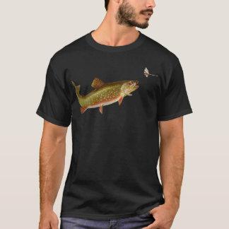 T-shirt chemise de pêcheur d'illustration de pêche de