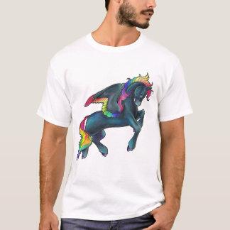T-shirt Chemise de Pegasus d'arc-en-ciel