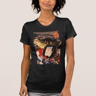 T-shirt Chemise de peinture japonaise antique de C. 1800's