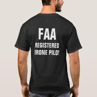 T-shirt Chemise de pilote de bourdon enregistrée par FAA