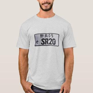 T-shirt chemise de plaque minéralogique de nissans sr20