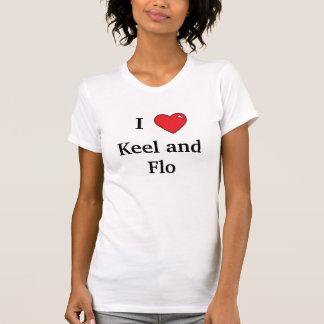 T-shirt Chemise de quille et de Flo d'amour de poussins