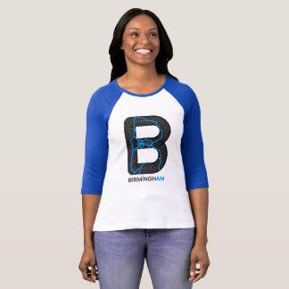 T-shirt Chemise de raglan de canaux de Birmingham