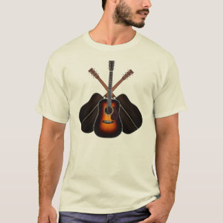 T-shirt Chemise de rangée de guitare acoustique