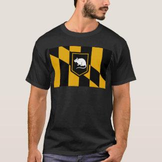 T-shirt Chemise de rat de drapeau de Baltimore