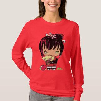 T-shirt Chemise de rouge de pomme de Miao de poupée de