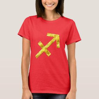 T-shirt Chemise de rouge d'or de Sagittaire