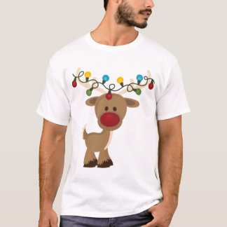 T-shirt Chemise de Rudolph_with_Christmas_Lights