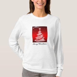 T-shirt Chemise de scintillement de vacances d'arbre de