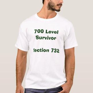 T-shirt Chemise de section de survivant de 700 niveaux