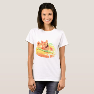T-shirt Chemise de Shiba de hot-dog