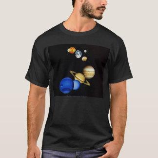T-shirt Chemise de système solaire