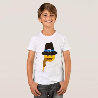 T-shirt Chemise de thanksgiving de jambe d'Emoji Turquie