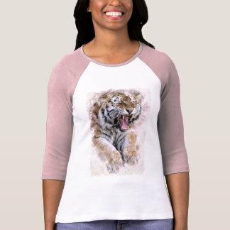 T-shirt Chemise de tigre d'hurlement