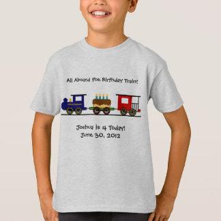 T-shirt Chemise de train d'anniversaire