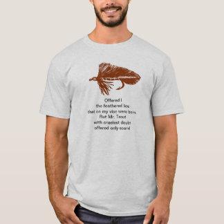 """T-shirt Chemise """"de truite cruelle"""" avec la flamme brune"""