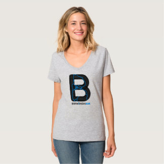 T-shirt Chemise de V-cou de canaux de Birmingham