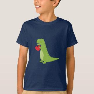 T-shirt Chemise de Valentine de dinosaure de T-Rex