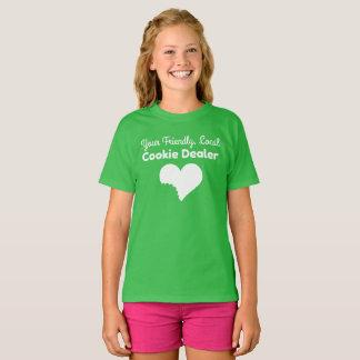 T-shirt Chemise de vendeur de biscuit de fille scout