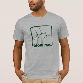 T-shirt Chemise de vert de turbine de vent