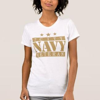 T-shirt Chemise de ville de la MARINE 7 - logo bronzage