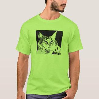 T-shirt chemise de visage de chat de clavier