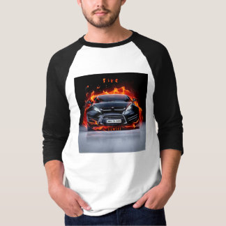 T-shirt Chemise de voiture du feu par ZZWEST