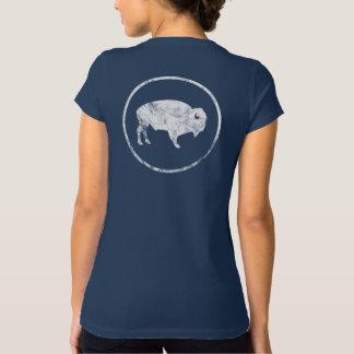 T-shirt Chemise dehors affligée blanche de Buffalo