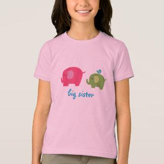 T-shirt Chemise d'éléphant de grande soeur
