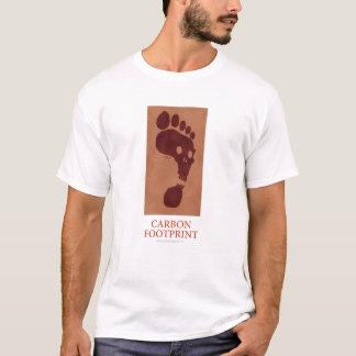 T-shirt Chemise d'empreinte de pas de carbone