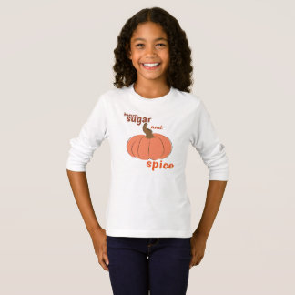 T-shirt Chemise d'épice de sucre roux et de citrouille