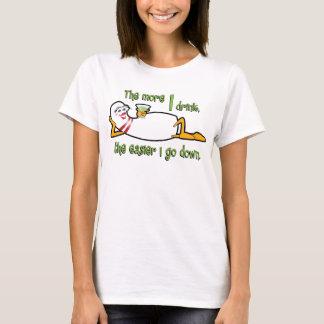 T-shirt Chemise d'équipe de bowling - plus que je bois
