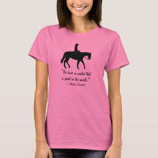 T-shirt Chemise d'équitation de citation de Churchill