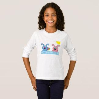 T-shirt Chemise des filles L/S de Rollys d'heure d'été