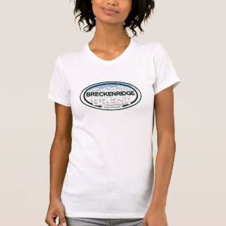T-shirt Chemise d'étiquette de montagne de Breckenridge le