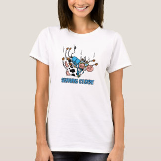 T-shirt chemise d'étudiant de parachutisme
