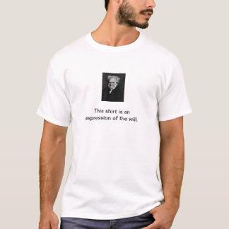 T-shirt Chemise d'expression de Schopenhauer