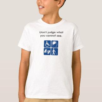 T-shirt Chemise d'incapacité de la jeunesse