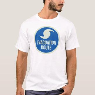 T-shirt Chemise d'itinéraire d'évacuation d'ouragan