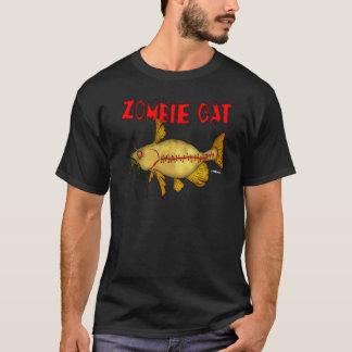 T-SHIRT CHEMISE D'OBSCURITÉ DE CAT DE ZOMBI