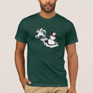 T-shirt Chemise d'obscurité de chasse de bonhomme de neige