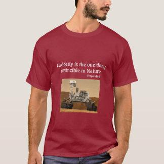 T-shirt Chemise d'obscurité de la NASA 2012 de curiosité