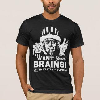 T-shirt Chemise d'Oncle Sam de zombi