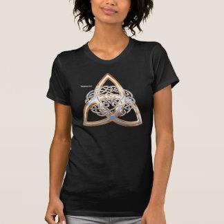 T-shirt Chemise d'or de dames Twofer de Triquetra