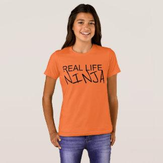 T-shirt Chemise d'orange de Ninja de vie réelle de filles