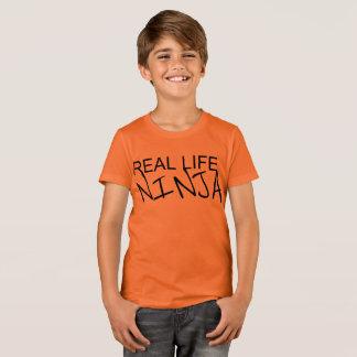 T-shirt Chemise d'orange de Ninja de vie réelle de garçons