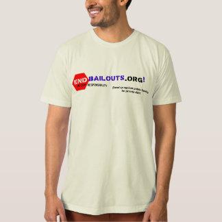 T-shirt Chemise d'Org de point de renflouements de fin