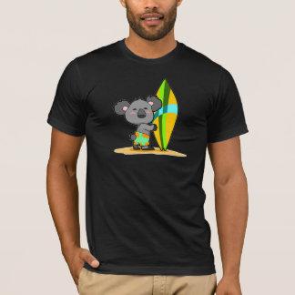 T-shirt Chemise d'ours de koala de panneau de surf