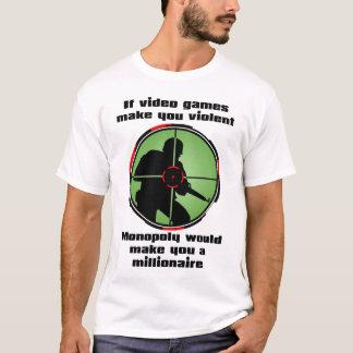 T-shirt Chemise drôle de jeux vidéo violents