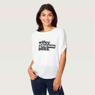 T-shirt Chemise drôle de patron de maman de chien de Wifey